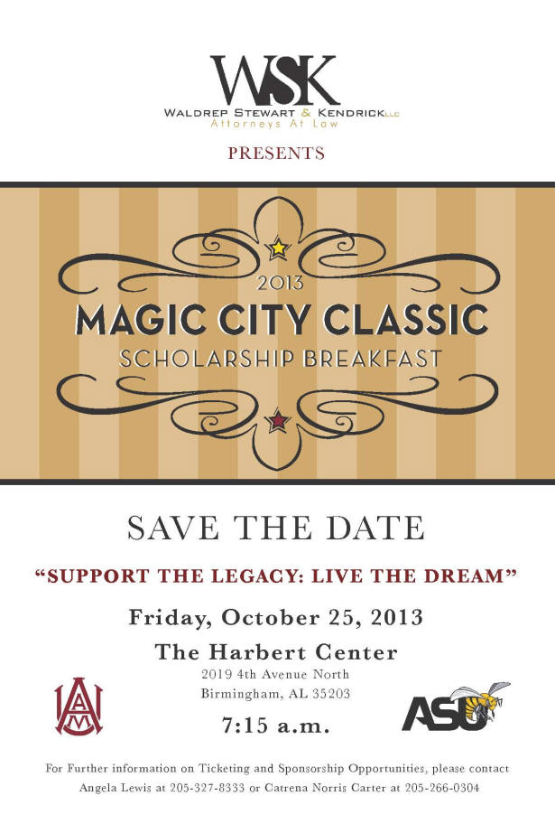 Save The Date   Support the Legacy: Live the Dream