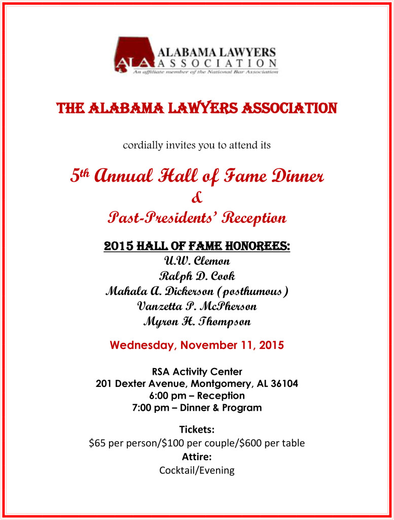 Hall of Fame Flyer