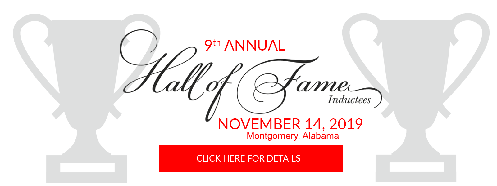Hall of Fame Inductee Dinner – Ticket Purchase